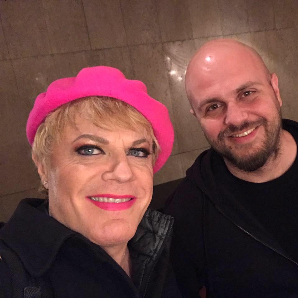 Иван Кирков и Еди Изард след шоуто му в Зала 1 НДК